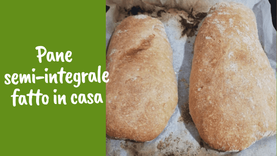 Pane semi-integrale fatto in casa (ben alveolato)