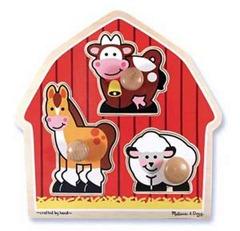Barnyard Animals Jumbo Knob Puzzle