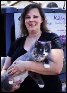 Owner of Kitty's Purrfect Spa, Deborah Hansen, CFMG, CFCG