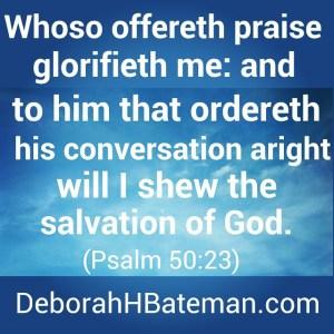 Psalm 50 23a