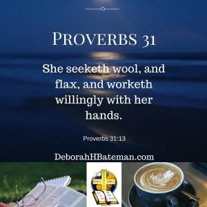 Proverbs 31 13