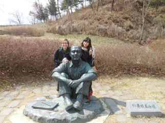 At the Park Su-geun museum (a celebrated Korean painter); me and Hye-Young.