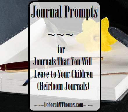 Journal Prompts - a Journal That You Will Leave to Your Children (Heirloom Journals)