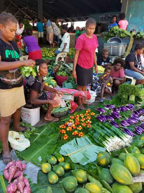 Solomon Islands open-air market