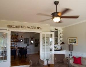 ceiling fan in tv room