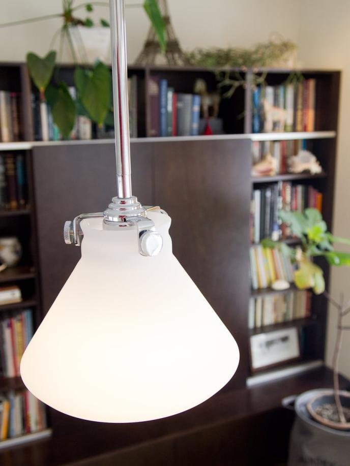 Hinkley pendant over coffee table