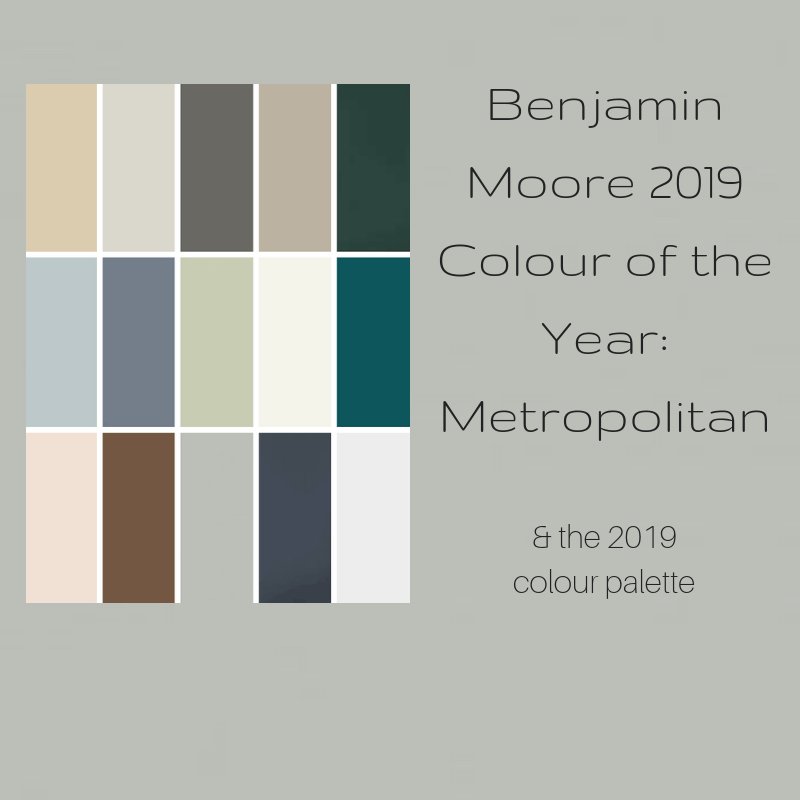 Benjamin Moore 2019 Colour of the Year - Metropolitan