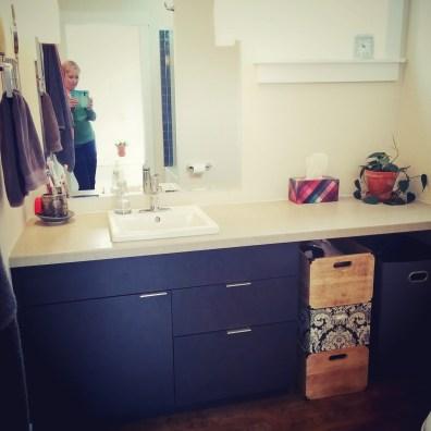 bathroom by deborah nicholson lighting and interiors