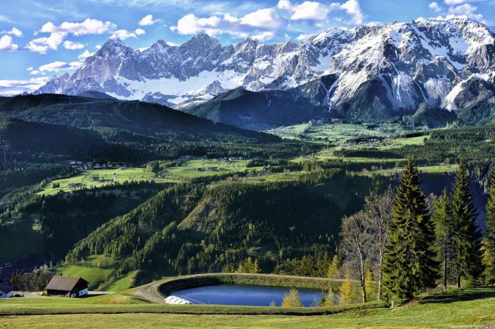 adventure alpine alps clouds