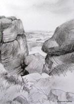 Ilkley Moor Cow and Calf Rocks