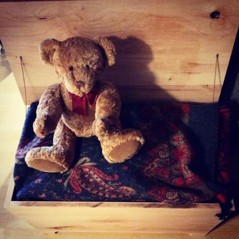 Blanket Chest with Bear