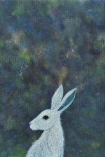 stargazing hare painting