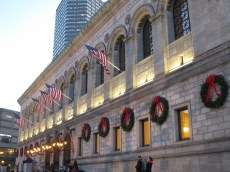 Boston Public Library with Wreaths