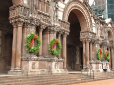 Trinity Church with Wreaths