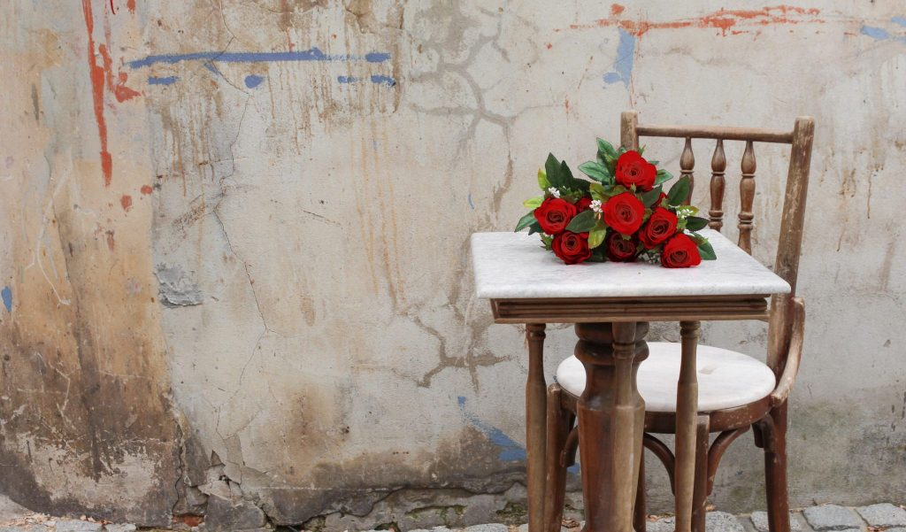 Deborah S. Nelson Home Page: Red Roses on Table