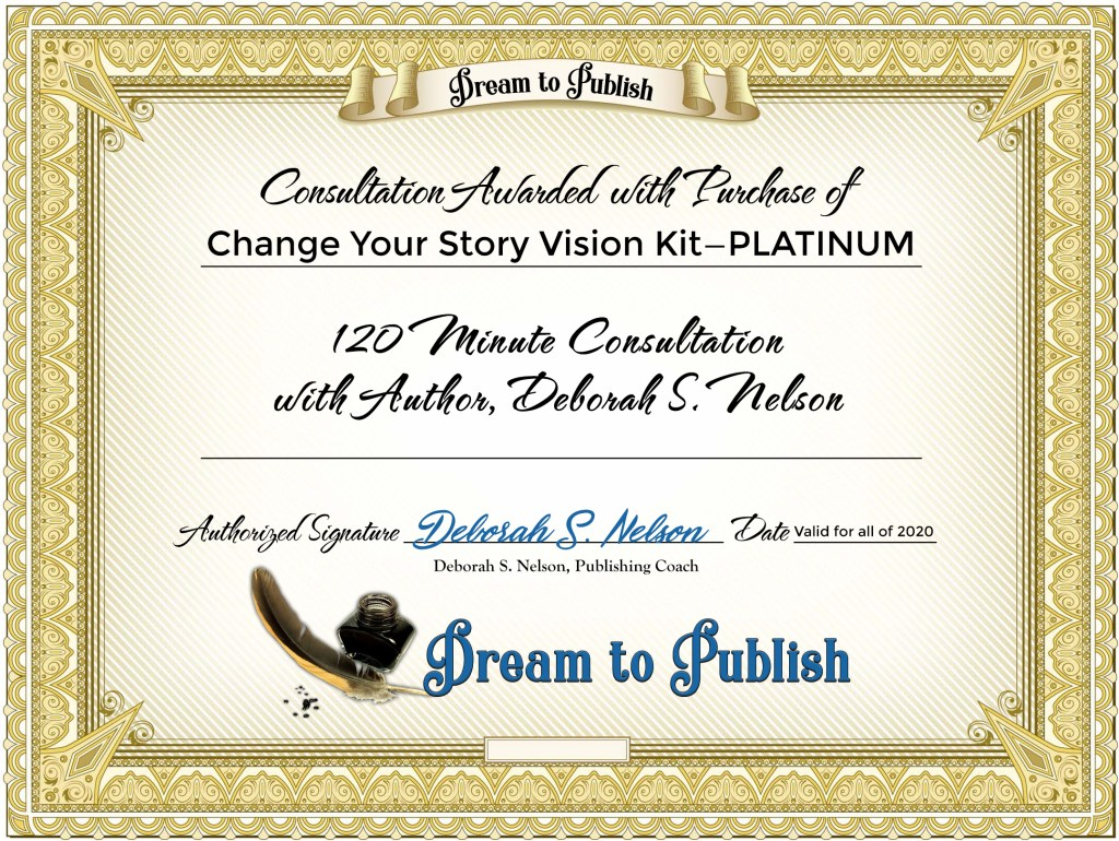 Change Your Story Vision Kit—PLATINUM Certificate