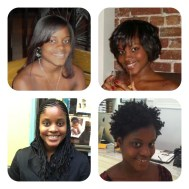 Todos as transições de cabelo que tive ate agora.