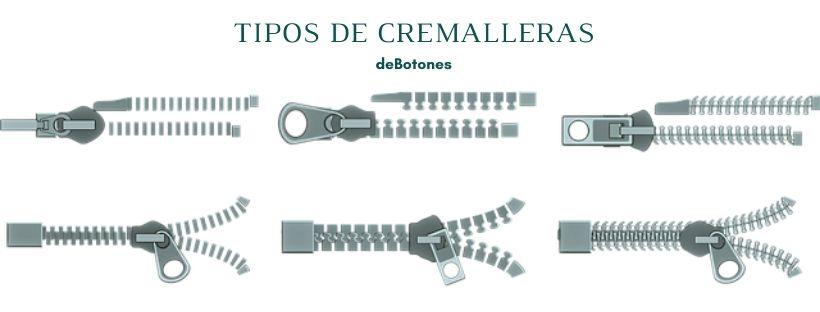 Tipos de Cremalleras