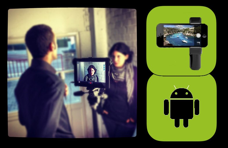 Le kit du journaliste mobile utilisant un smartphone Android