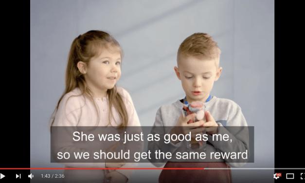 L'inégalité salariale vue par des enfants.une expérience brillante