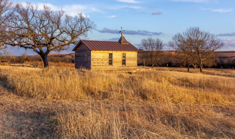 cowley county winter blues blue skies kansas prairie landscape photography fine art prints flint hills