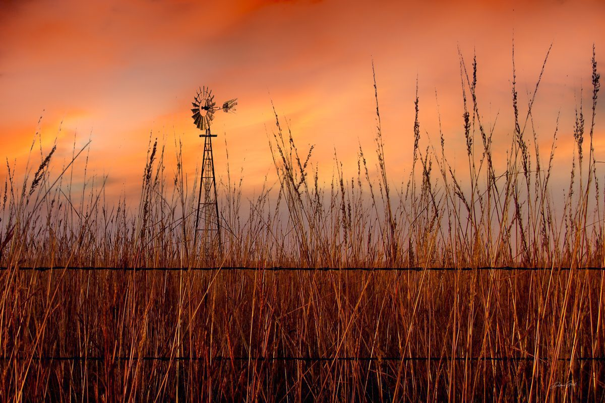 Windmill Sunset 7187