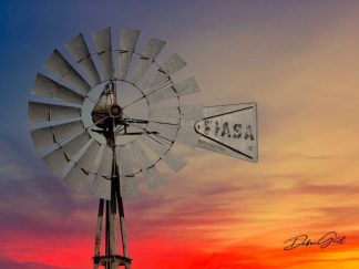 windmill closeup in the sunset 8780