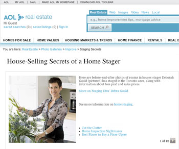 Staging DIva on AOL Real Estate