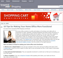 Shopping Confidential features Debra Gould's tips to a better home office
