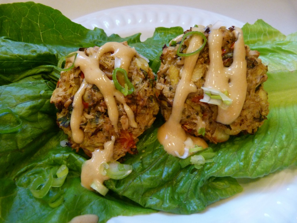 Healthy Appetizer. Vegan and glutenfree crab cakes