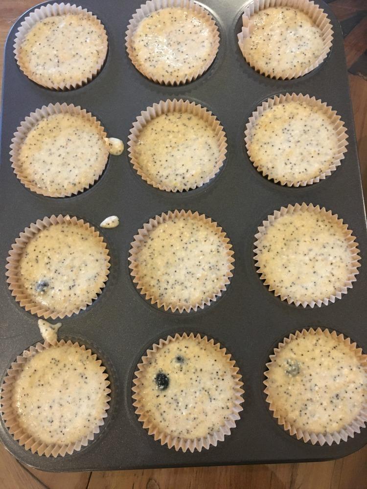 Glutenfree Vegan Lemon Poppy Muffins