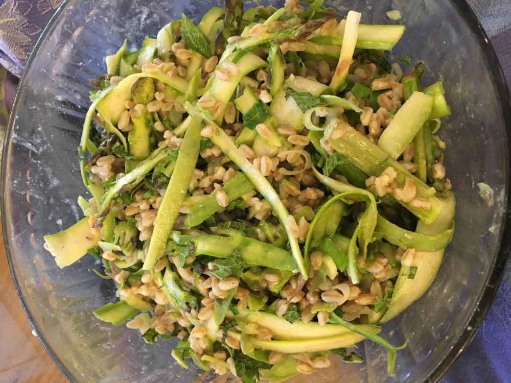 Shaved Asparagus and Faro Salad