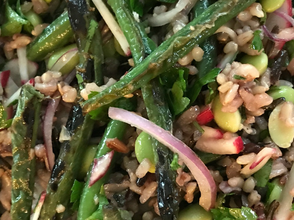 Blistered Green Beans, Wild Rice and Fresh Herb Salad