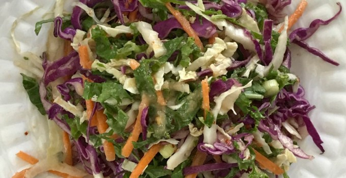 Summer Slaw with Ginger Miso Dressing