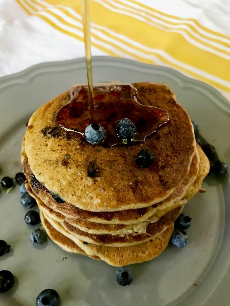Gluten-free pancakes. Healthy. Simple. Refined sugar-free