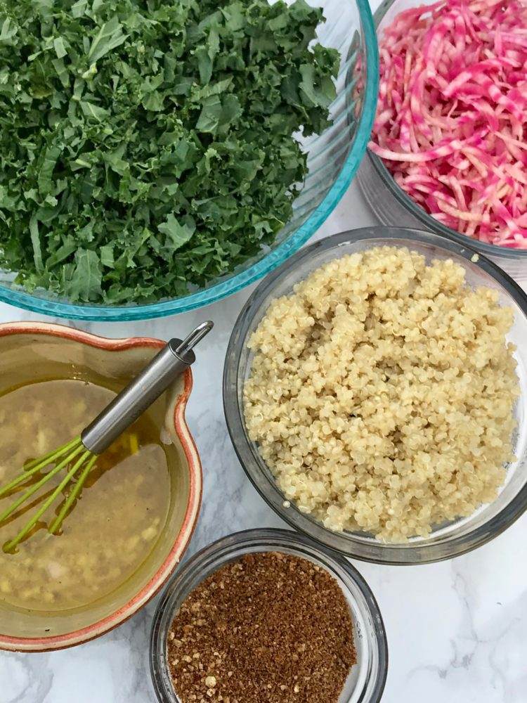 Kale salad with beets and quinoa