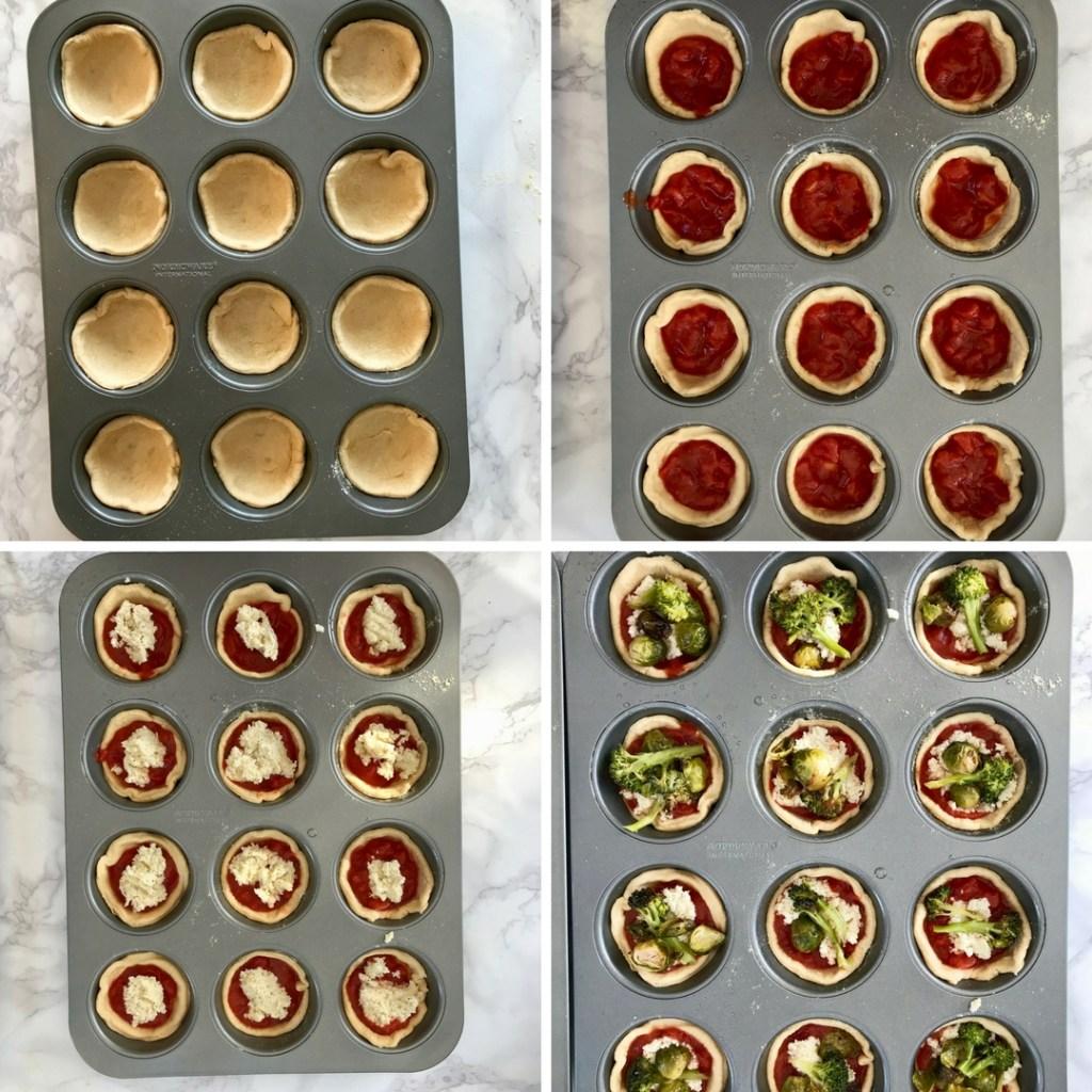 Vegan Ricotta Pizza Muffins