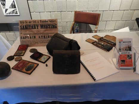 Civil War artifacts provided by the Wabash County Historical Society