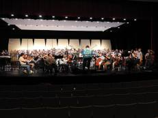 """""""Family Portrait"""" dress rehearsal with over 250 musicians onstage"""
