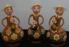 Three Gourd Girls by Debra Maerz