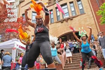 Dancers at the Republic of Trinidad and Tobago Embassy