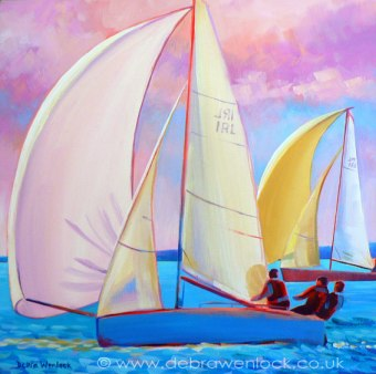 Spinaker, acrylic painting by Debra Wenlock