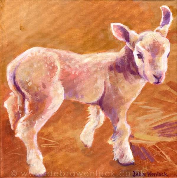 Sam the Lamb painting by Debra Wenlock