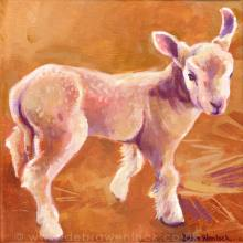 Sam the Lamb painting by Debra Wenlock