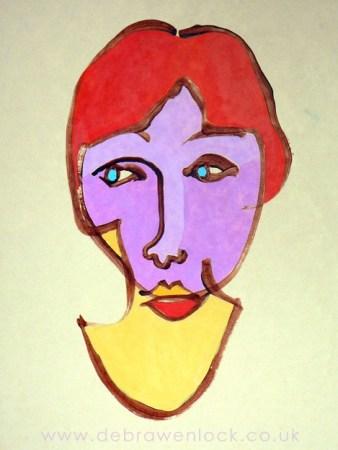 Blind-Contour-Self-Portrait-Debra-Wenlock