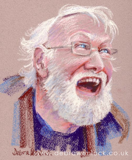 Martin - oil pastel portrait by Debra Wenlock