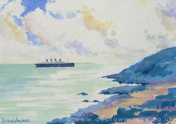 Titanic Leaving Queenstown by Debra Wenlock