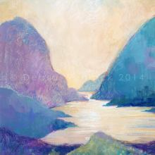 Delphi Valley Glow acrylic painting by Debra Wenlock