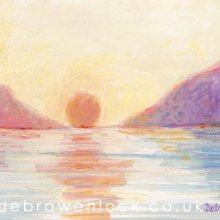 Delphi Valley Sunset - Irish Landscape painting by Debra Wenlock