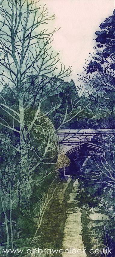 Old Coach Road, Helen's Bay - Collagraph print by Debra Wenlock